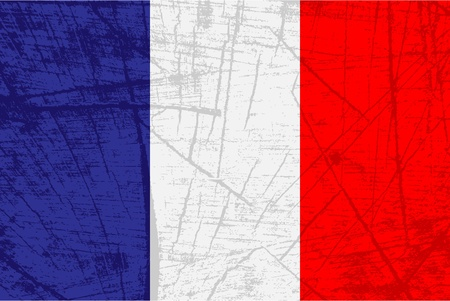 french flag: flag of france Illustration