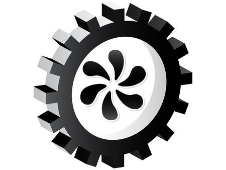Fan button  Vector
