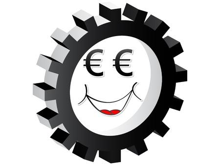 cartoon face euro  Stock Vector - 10470972