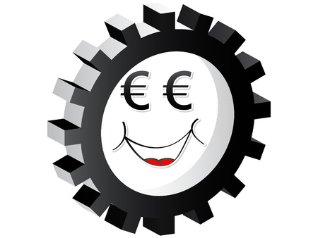 cartoon face euro Stock Vector - 10470972