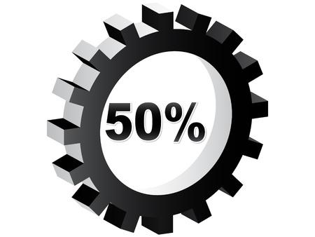 fifty percent discount Stock Vector - 10465874
