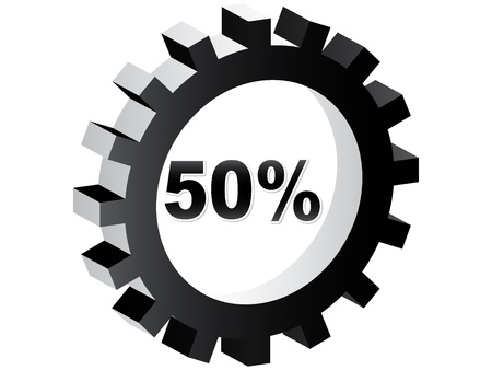fifty percent discount Stock Vector - 10465874