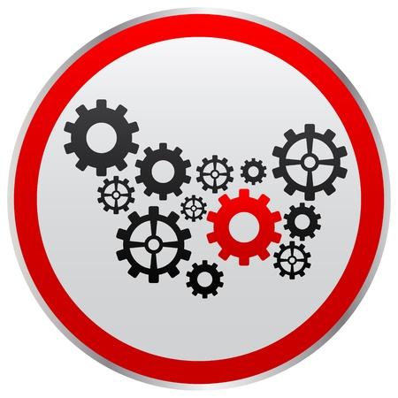 gear button Stock Vector - 10466152
