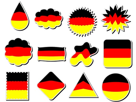 german stickers Vector