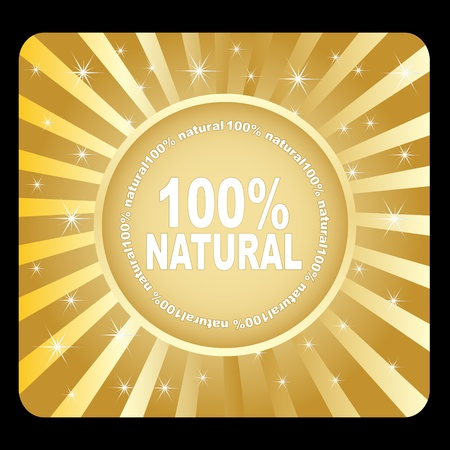 100% natural Stock Vector - 10471352