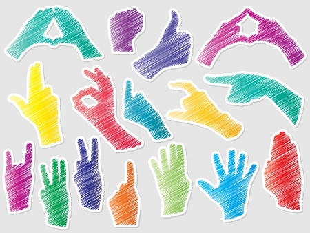 hand shapes Stock Vector - 10471689