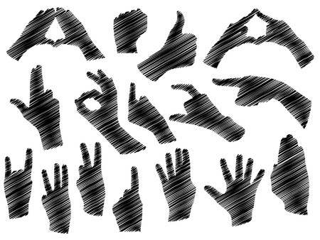 accomplish:  hands shape Illustration