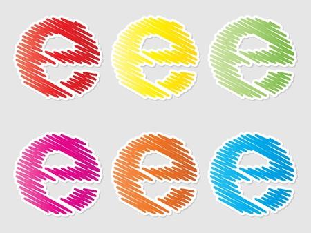internet buttons Illustration