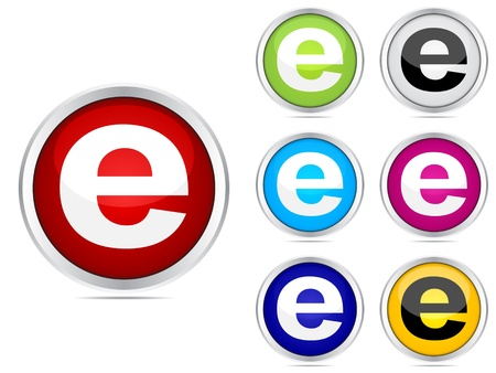 ie: internet buttons Illustration