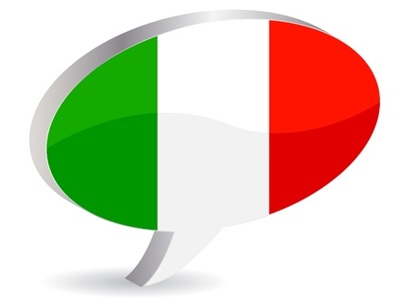 shiny buttons: flag of italy