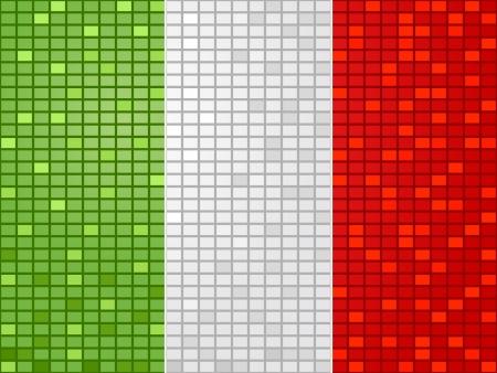 rome italy: flag of italy