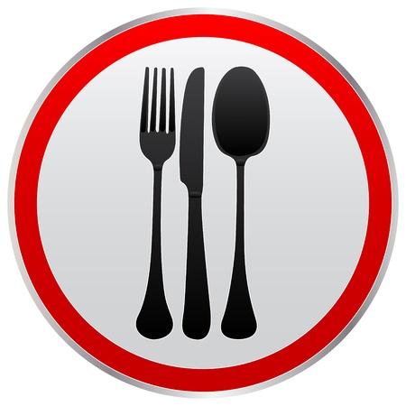 cuchillo y tenedor: Icono de tenedor cuchillo cuchara