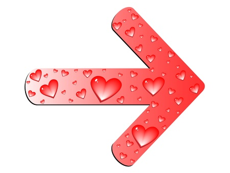 love arrow Vector