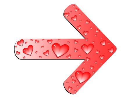 kursor: strzałka miłość Ilustracja