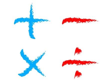 signos matematicos: matemáticas botones