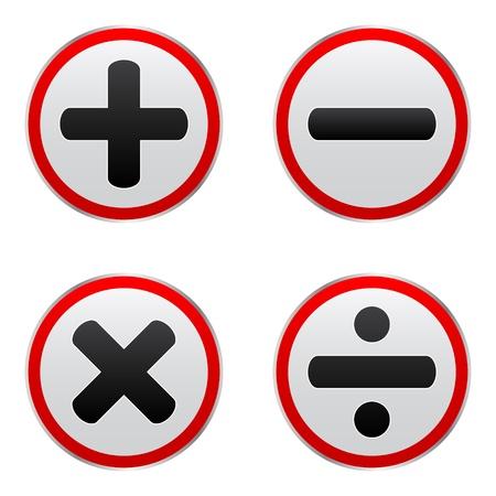 mathematics buttons Stock Vector - 10465990
