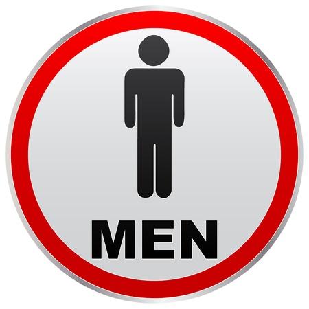 wc: Männer Toilette Etikett