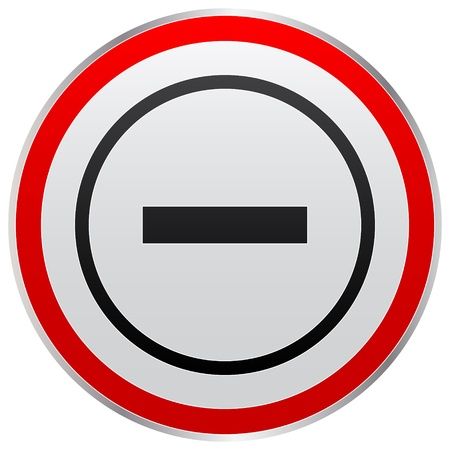minus  button Stock Vector - 10465913