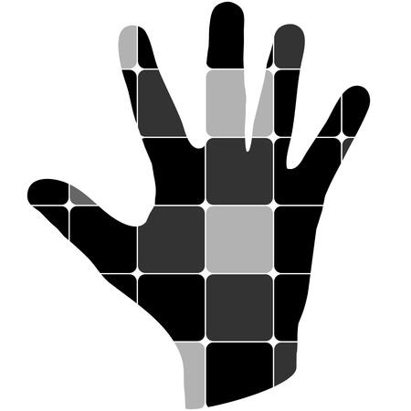 no entry sign: human palm