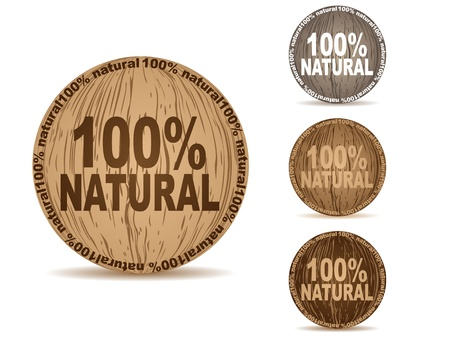 natural buttons  Stock Vector - 10471643