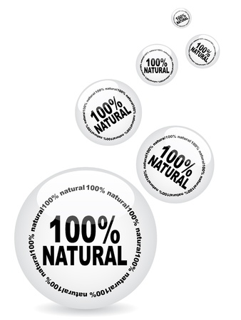 100% natural web buttons Stock Vector - 10471580