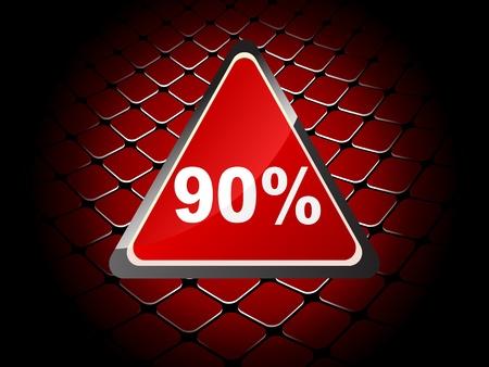 ninety: ninety percent discount background