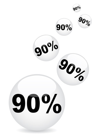 ninety: ninety percent discount