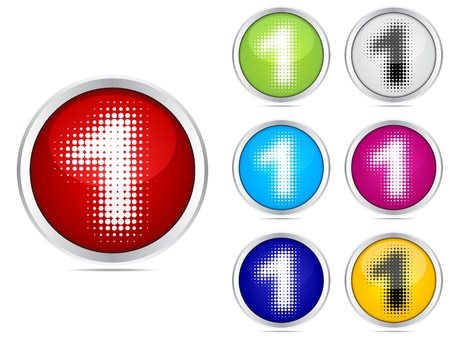 number one different colors Stock Vector - 10471627