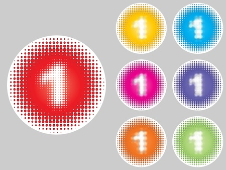 number one different colors Stock Vector - 10471718
