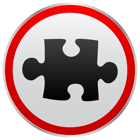 puzzle button Stock Vector - 10466027