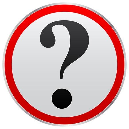 question button Stock Vector - 10465985