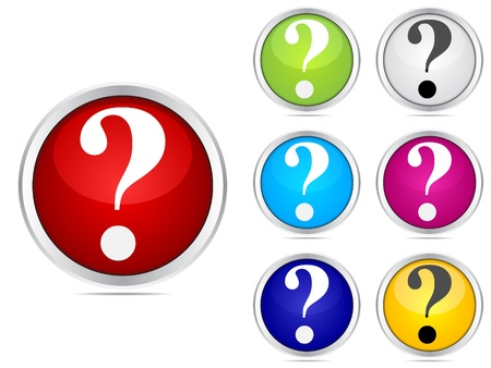 question icon: question buttons different colors
