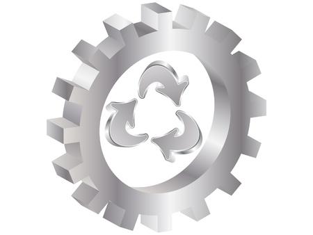 circulating: recycling icon Illustration