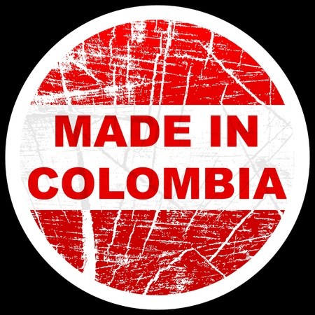 colombian: made in colombia Illustration