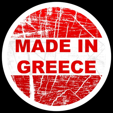 made in greece stamp: made in greece Illustration