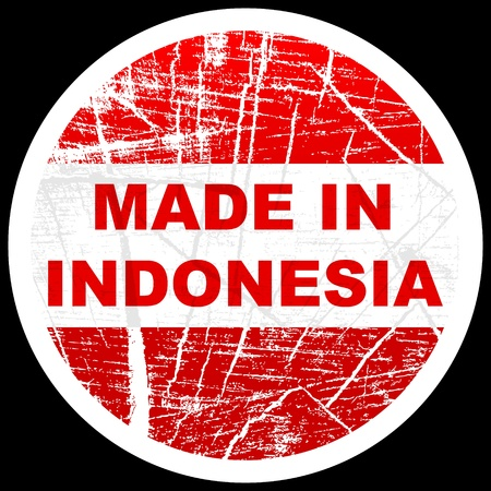 made in indonesia Vector