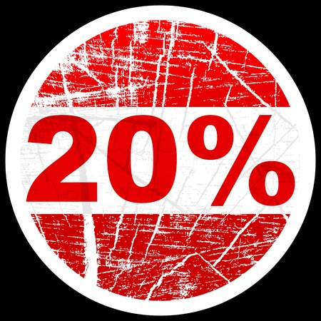 twenty percent discount  Stock Vector - 10471751