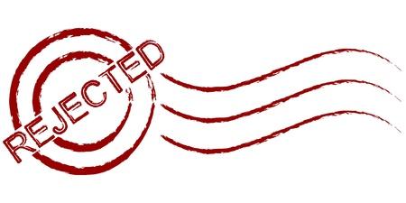 denial: rejected stamp Illustration