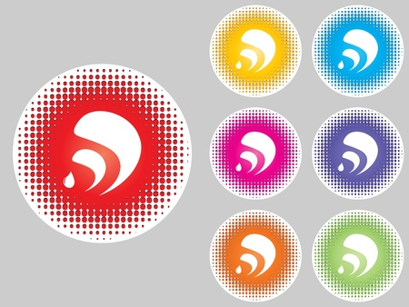 doted:  Rss icons different colors Illustration