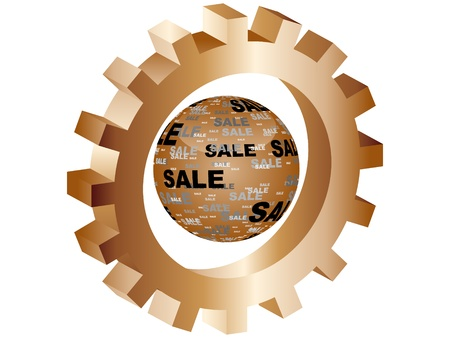 rebate: sale icon Illustration