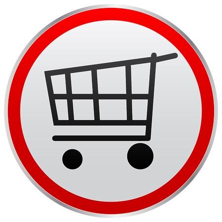 carretilla de mano: botón de compra Vectores