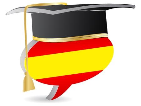 spanish flag: spanish graduation  Illustration