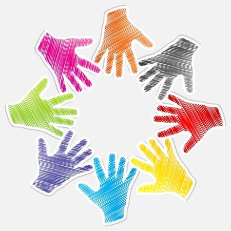 lenguaje corporal: concepto de trabajo en equipo