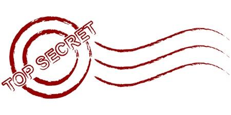a round of inspection: top secret stamp Illustration