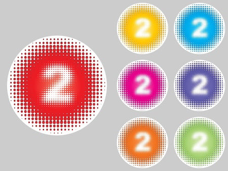 numbers two different colors Stock Vector - 10471753