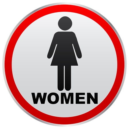 toilette: women toilet label
