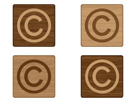 Copyright button Vector
