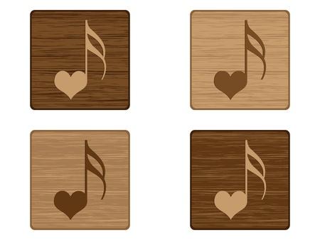song of love button  Vector