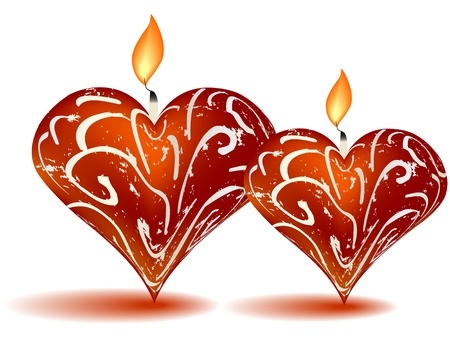 candle hearts Vector
