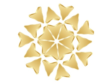 abstract arrows golden design Vector